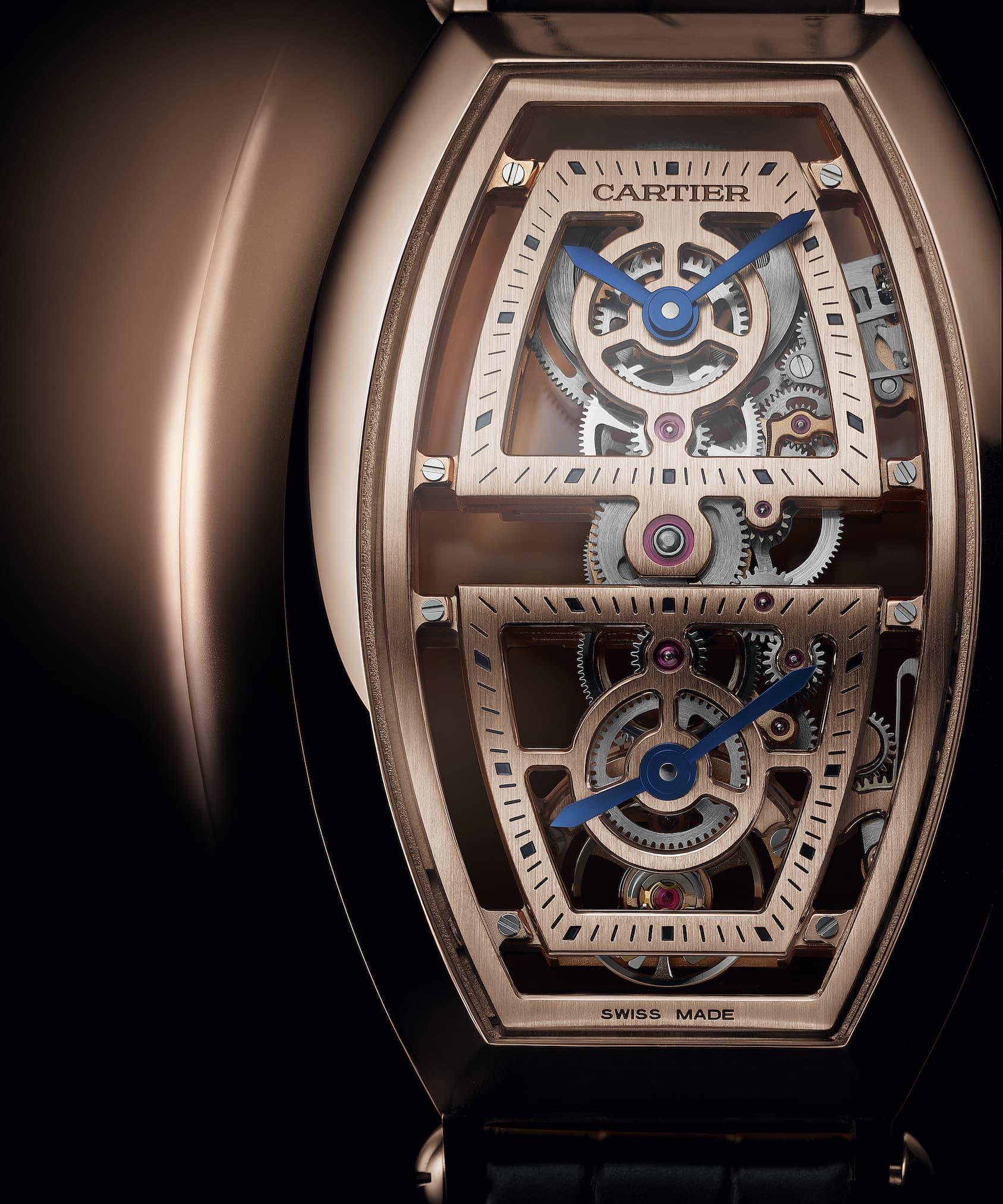 Cartier Privé Tonneau XL Skeleton Dual Time.