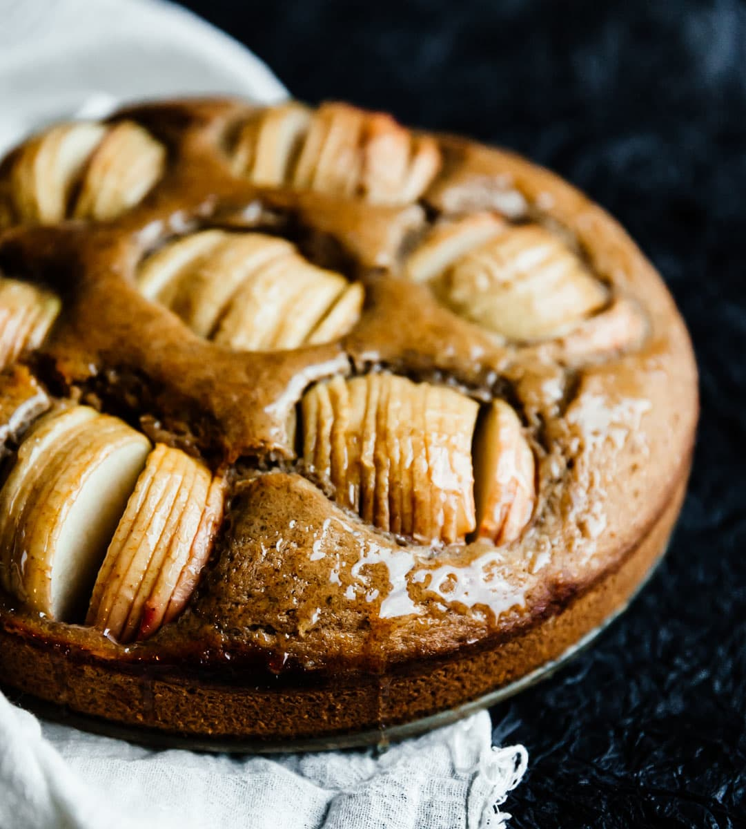 brown butter & hazelnut apple cake