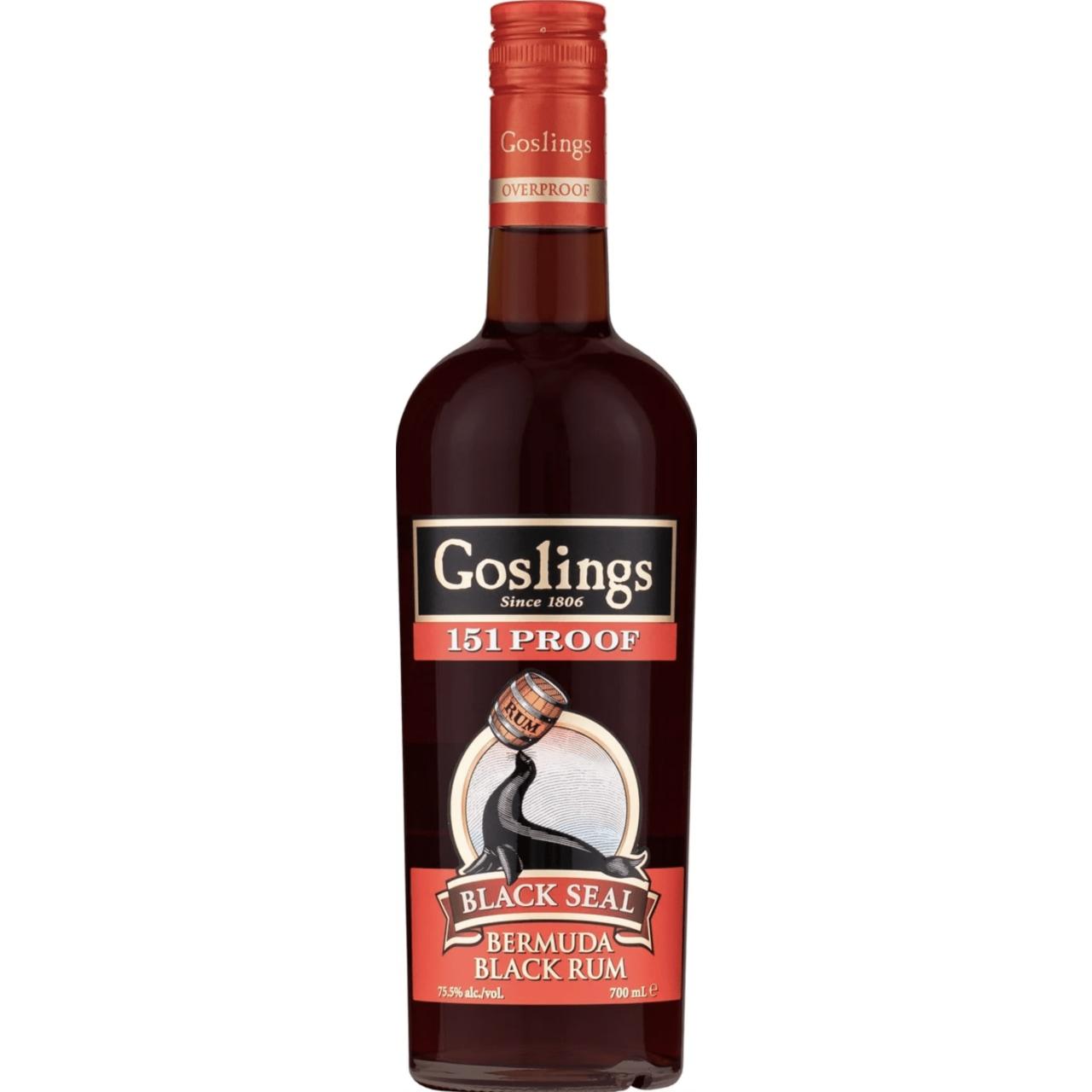 Gosling's Black Seal Overproof 151 Rum