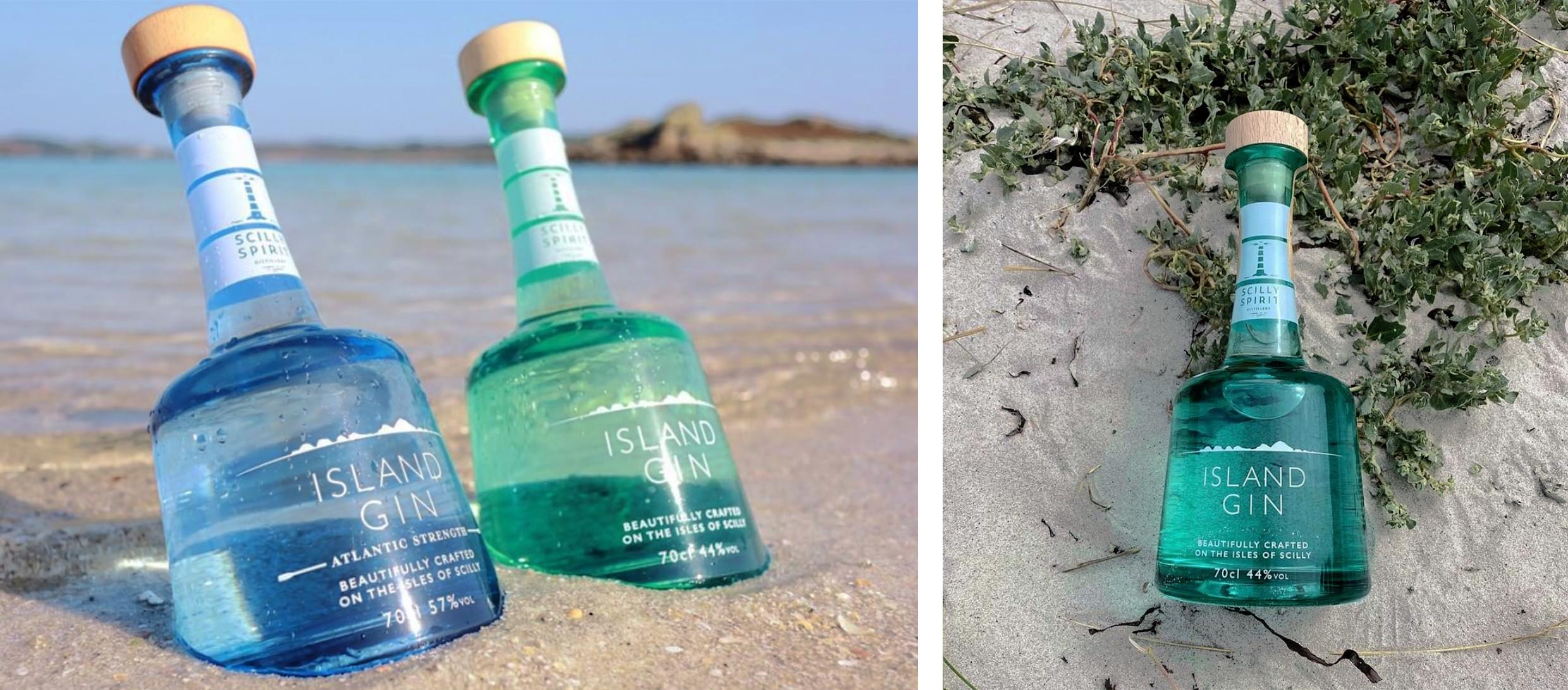 Isle of Scilly Gin bottles