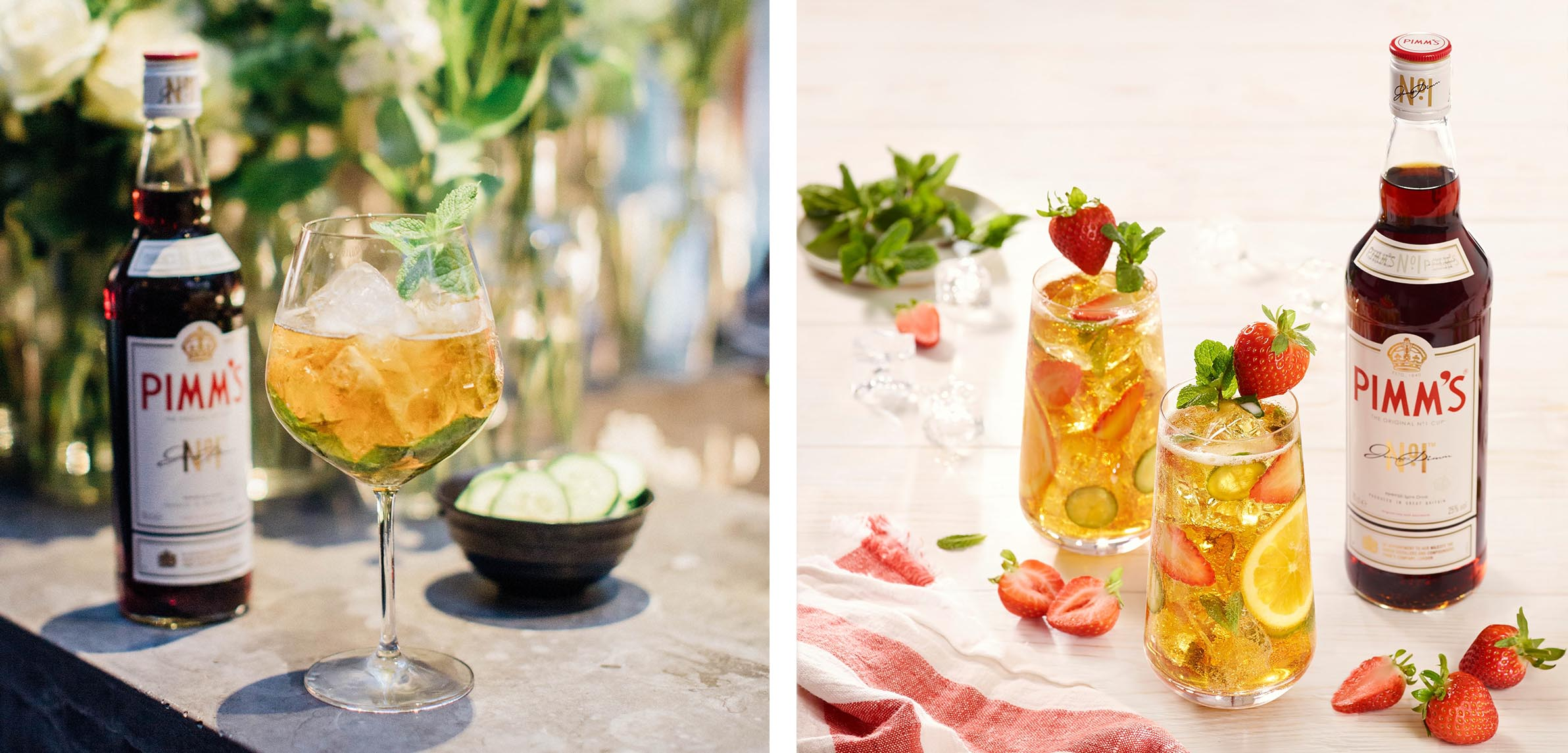 Pimm's No 1 Cup images with glorious drinks