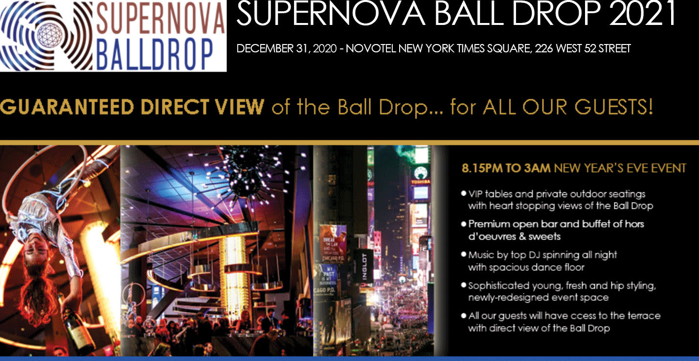 New Year's Eve 2021 with a GUARANTEED direct view of the Ball Drop for ALL OUR GUESTS (Times ...