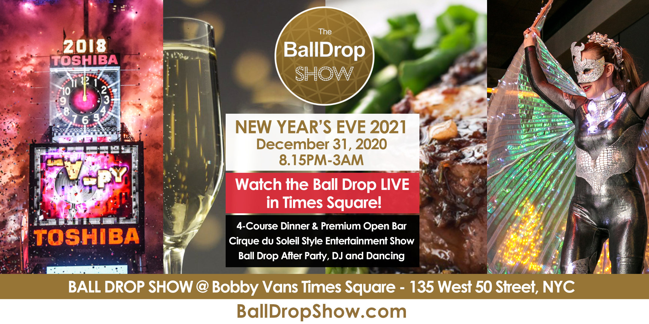 BALL DROP SHOW New Year's Eve 2021 - LIVE Ball Drop View & Show - Dec 31, 2020 Tickets, Thu, Dec ...