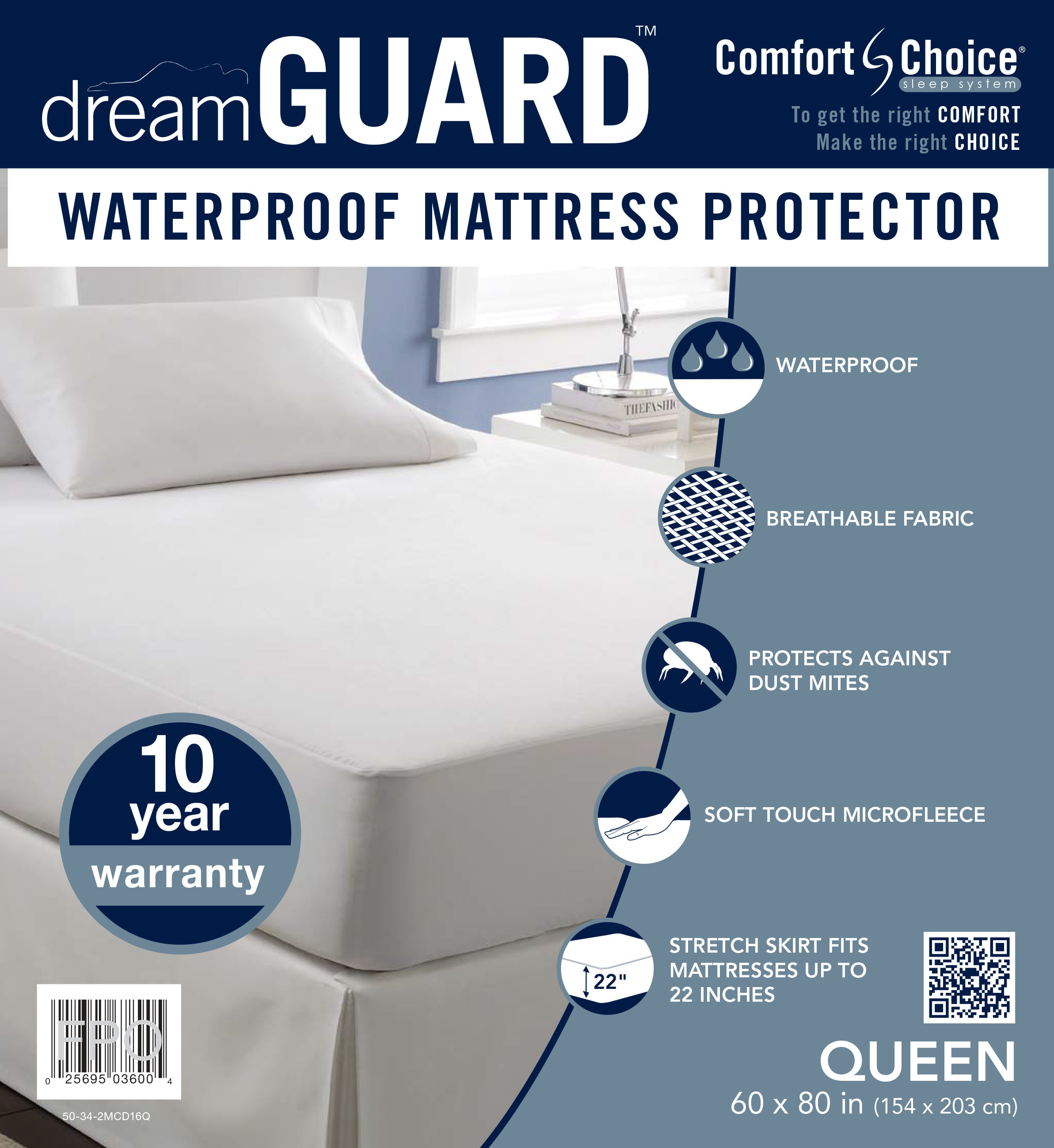 dreamGUARD Queen Size Mattress Protector