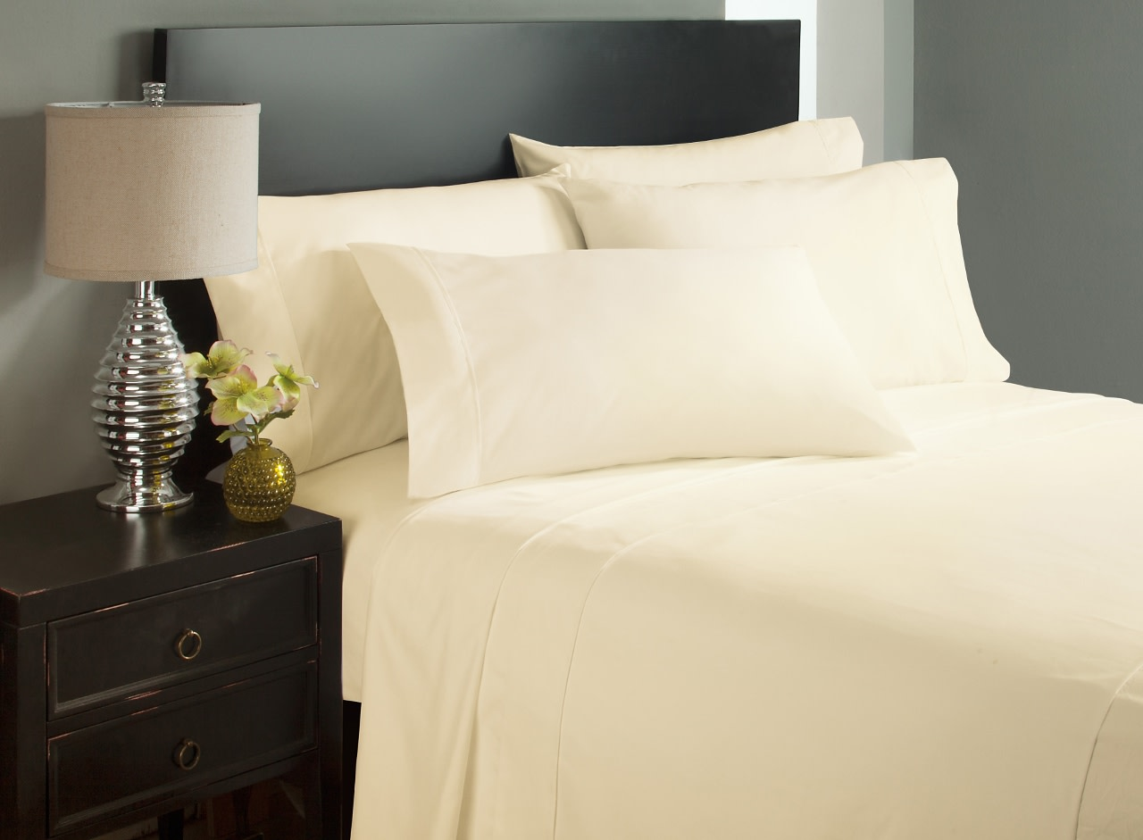 King Size Cream Bed Sheets