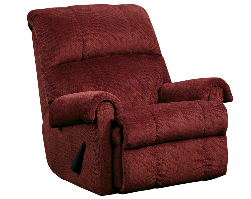 Kelly Burgundy Rocker Recliner