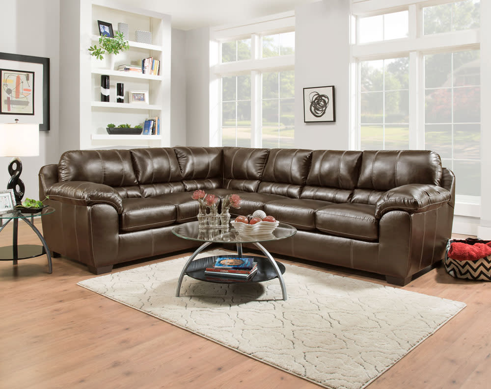 Kiser Cappuccino Sectional Collection American Freight Sears Outlet