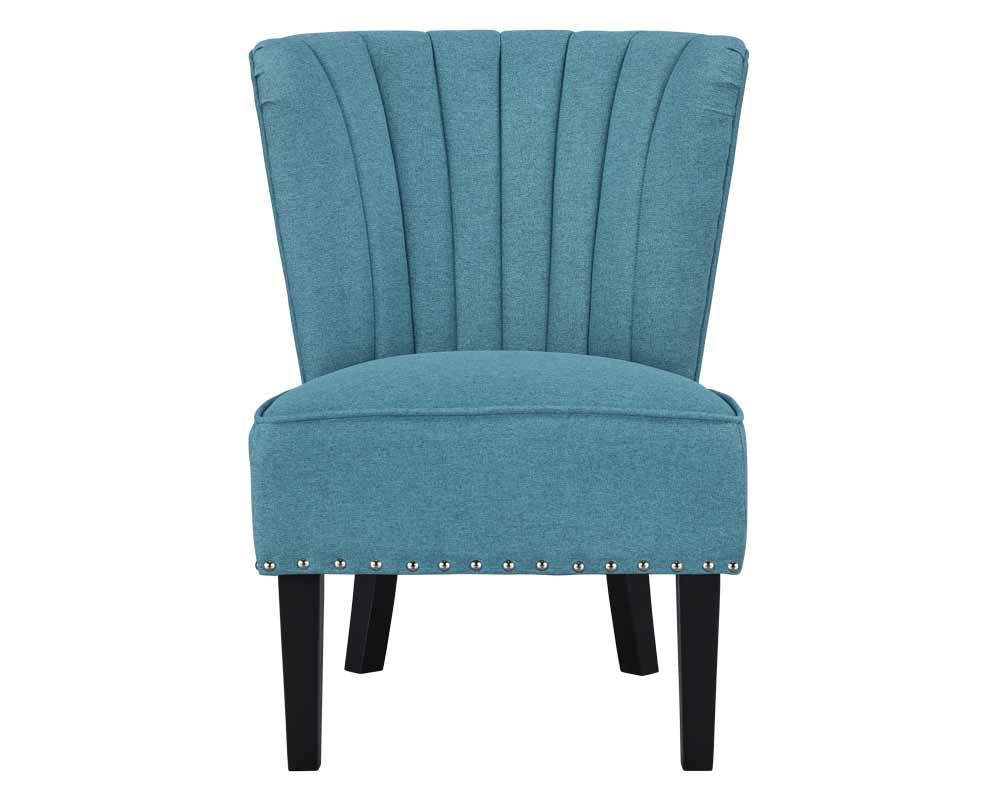 Emporium Aegean Teal Armless Accent Chair