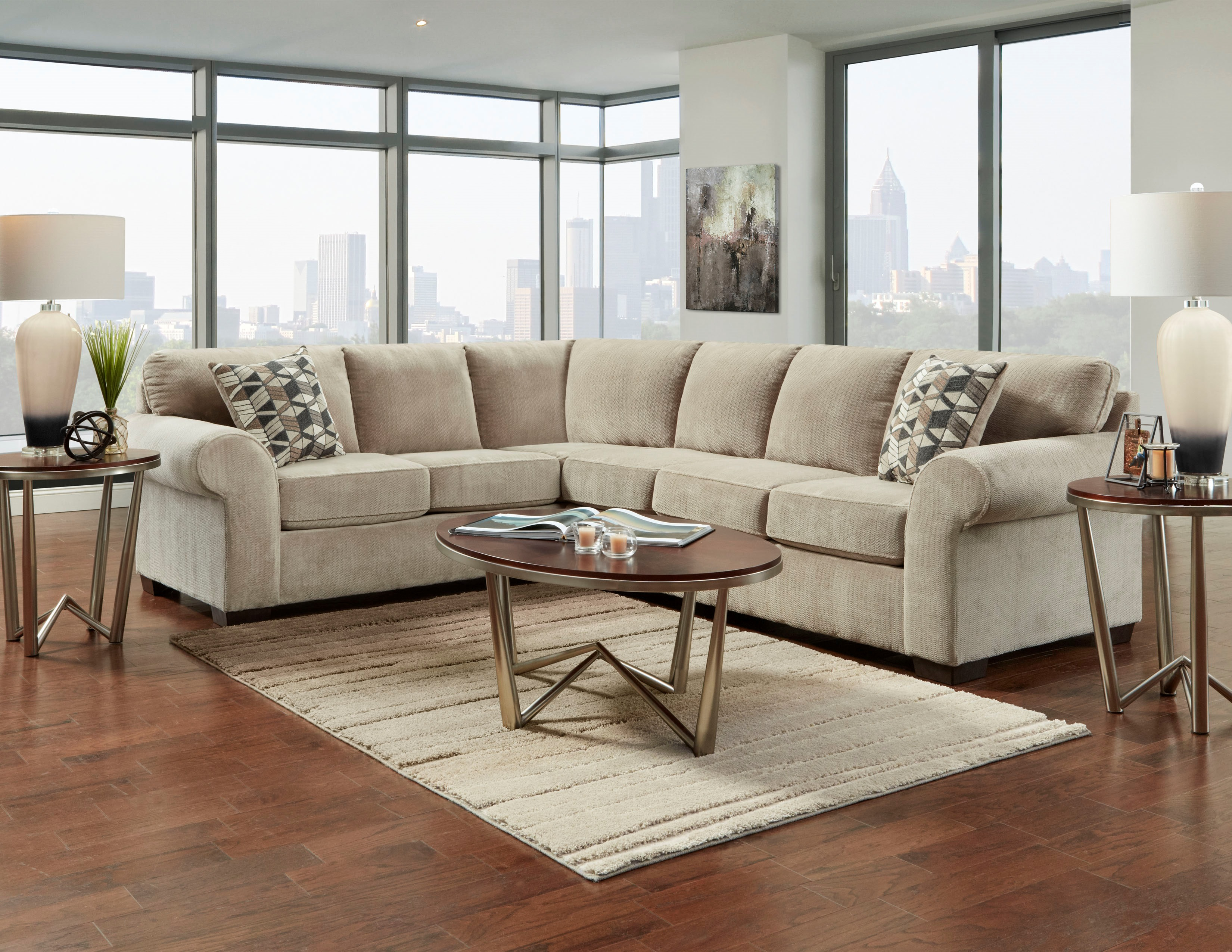 Chevron Sectional Collection American Freight Sears Outlet