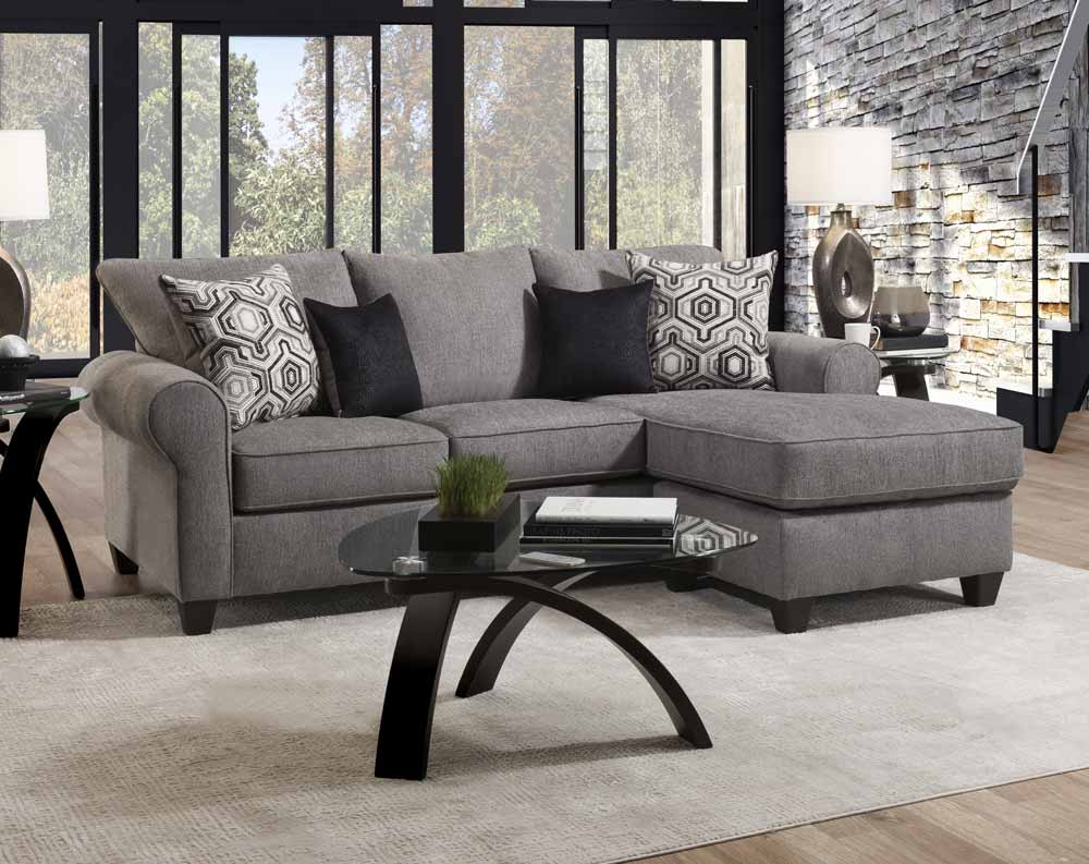Barringer Smoke 2-piece Sectional with Chaise