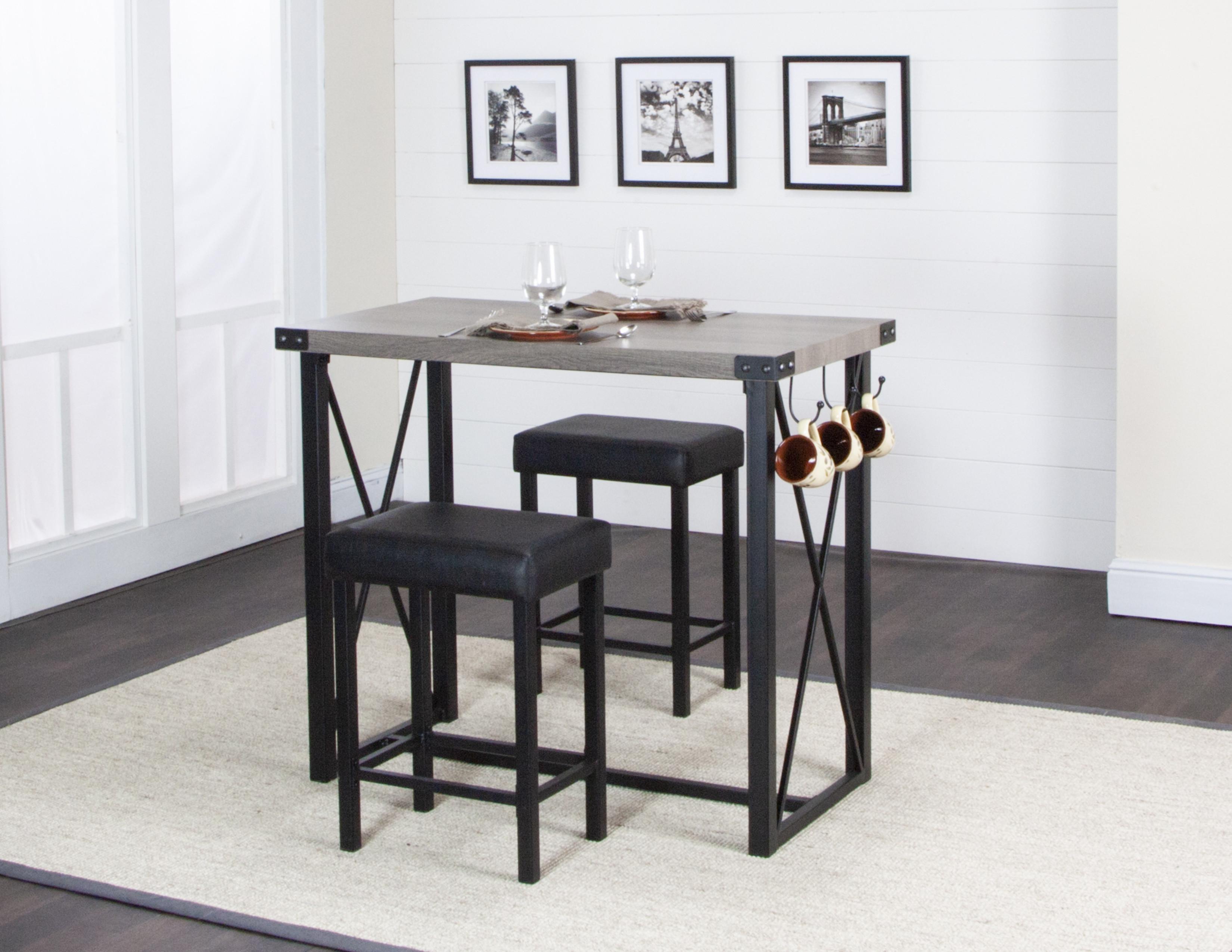 Sage 3 piece Counter Height Dining Set