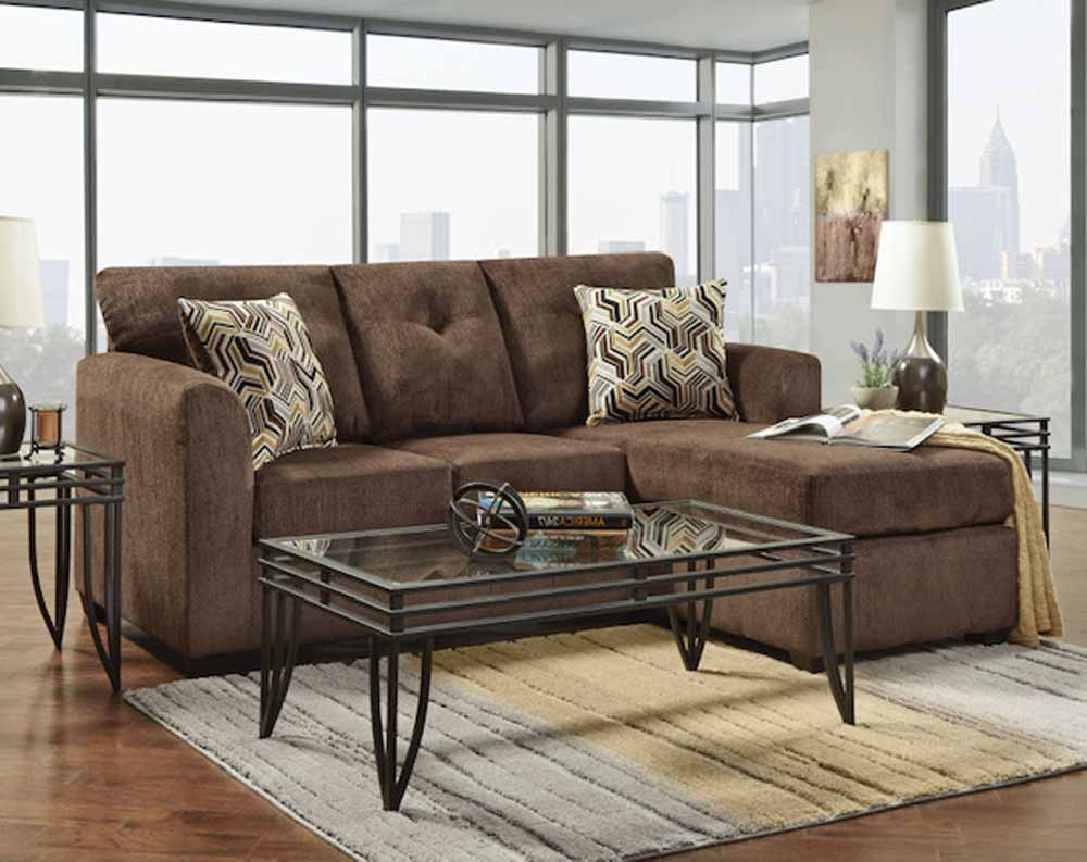 Kelly Chocolate Sectional with Chaise