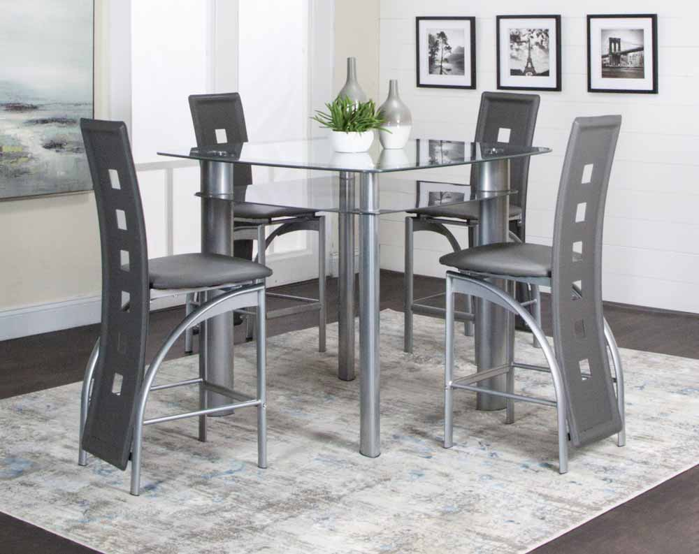 Valencia Grey Pub Table Collection American Freight Sears Outlet