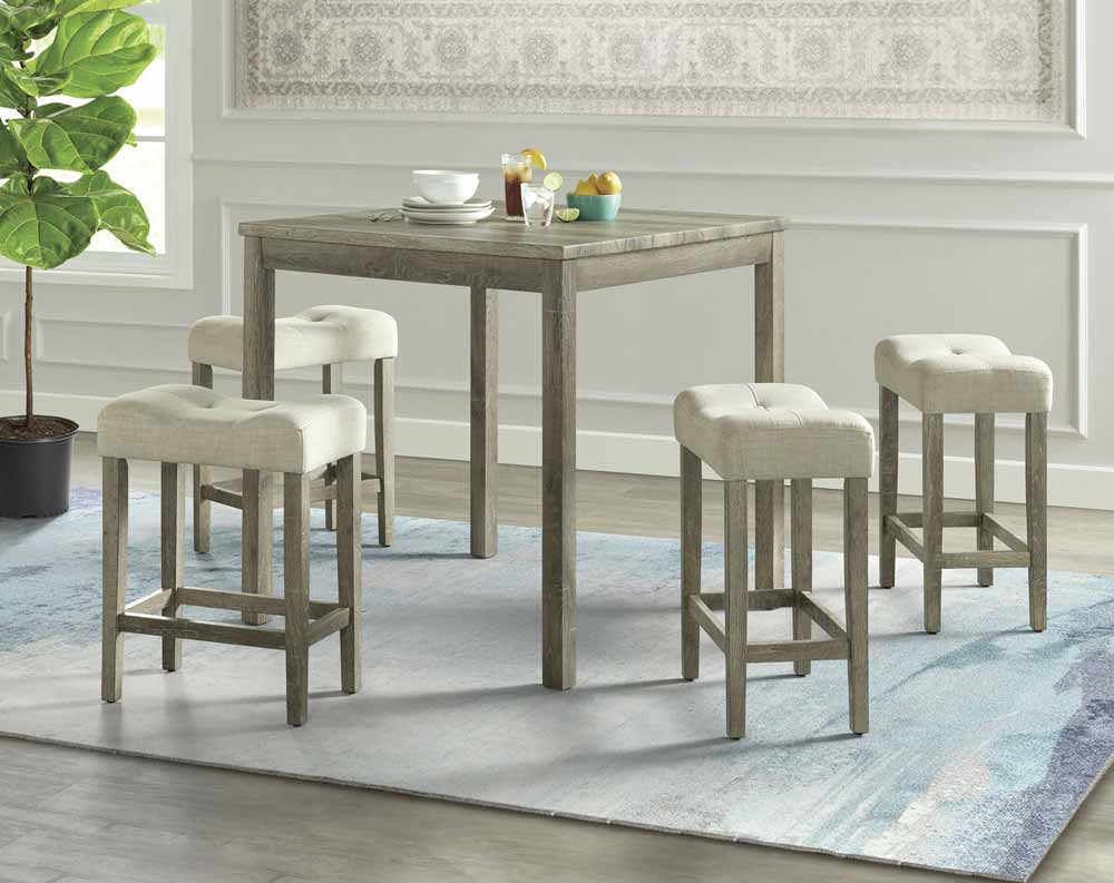 Oak Lawn Wood 5 Piece Counter Height Dining Set