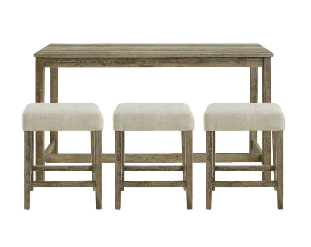 Oak Lawn Wood Counter Height Bar and 3 Piece Stool Set