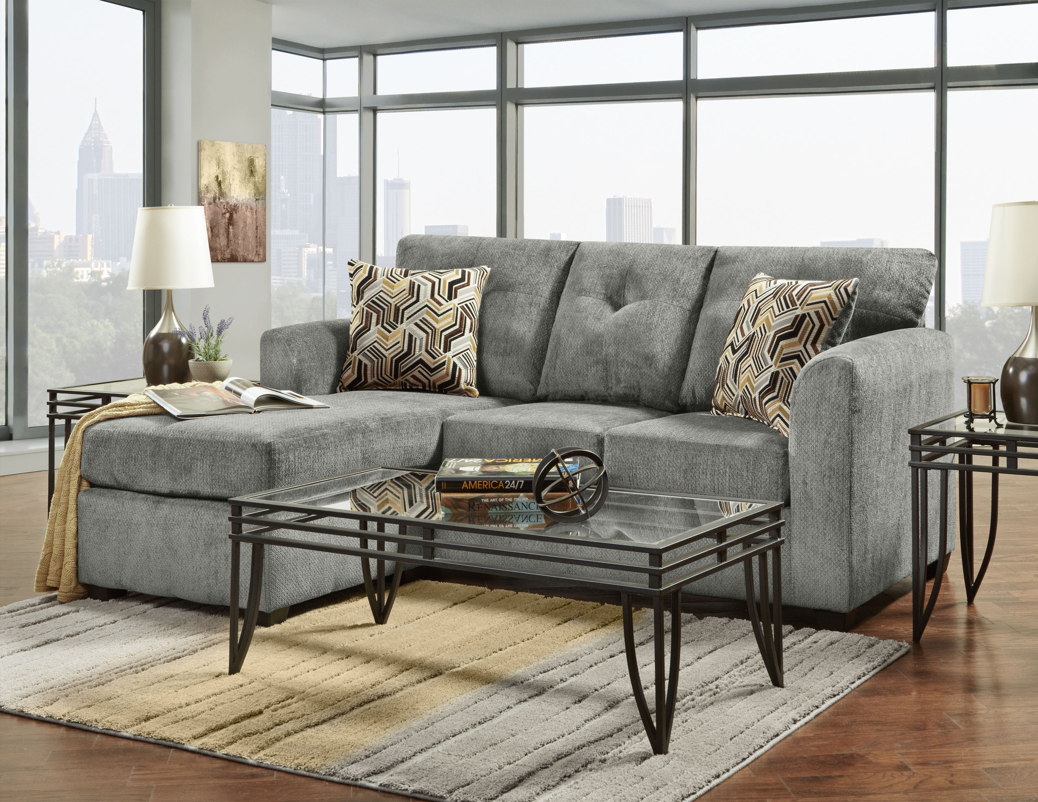 Kelly Grey Sectional with Chaise
