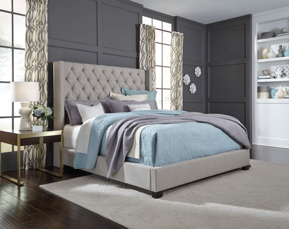 Westerly Light Grey Queen Bed