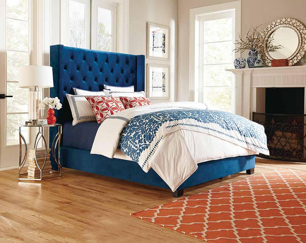 Westerly Deep Blue Queen Bed