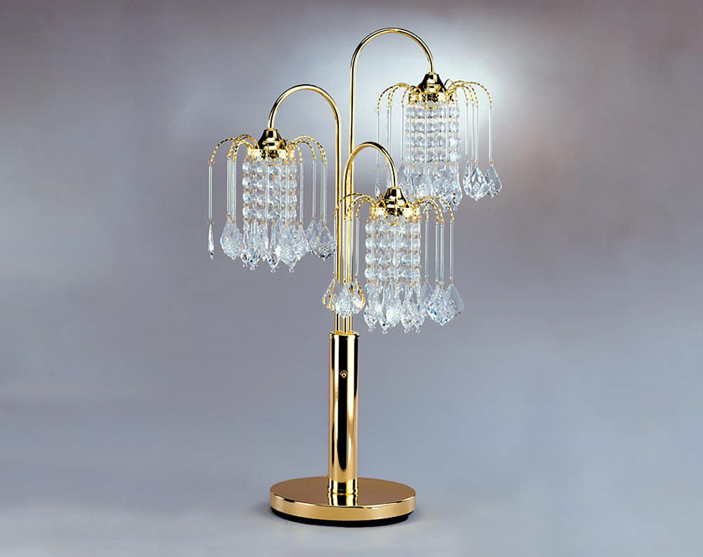 Gold Chandelier Table Lamp