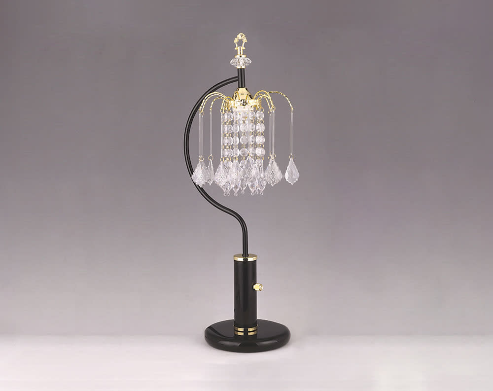 Black Chandelier Small Table Lamp