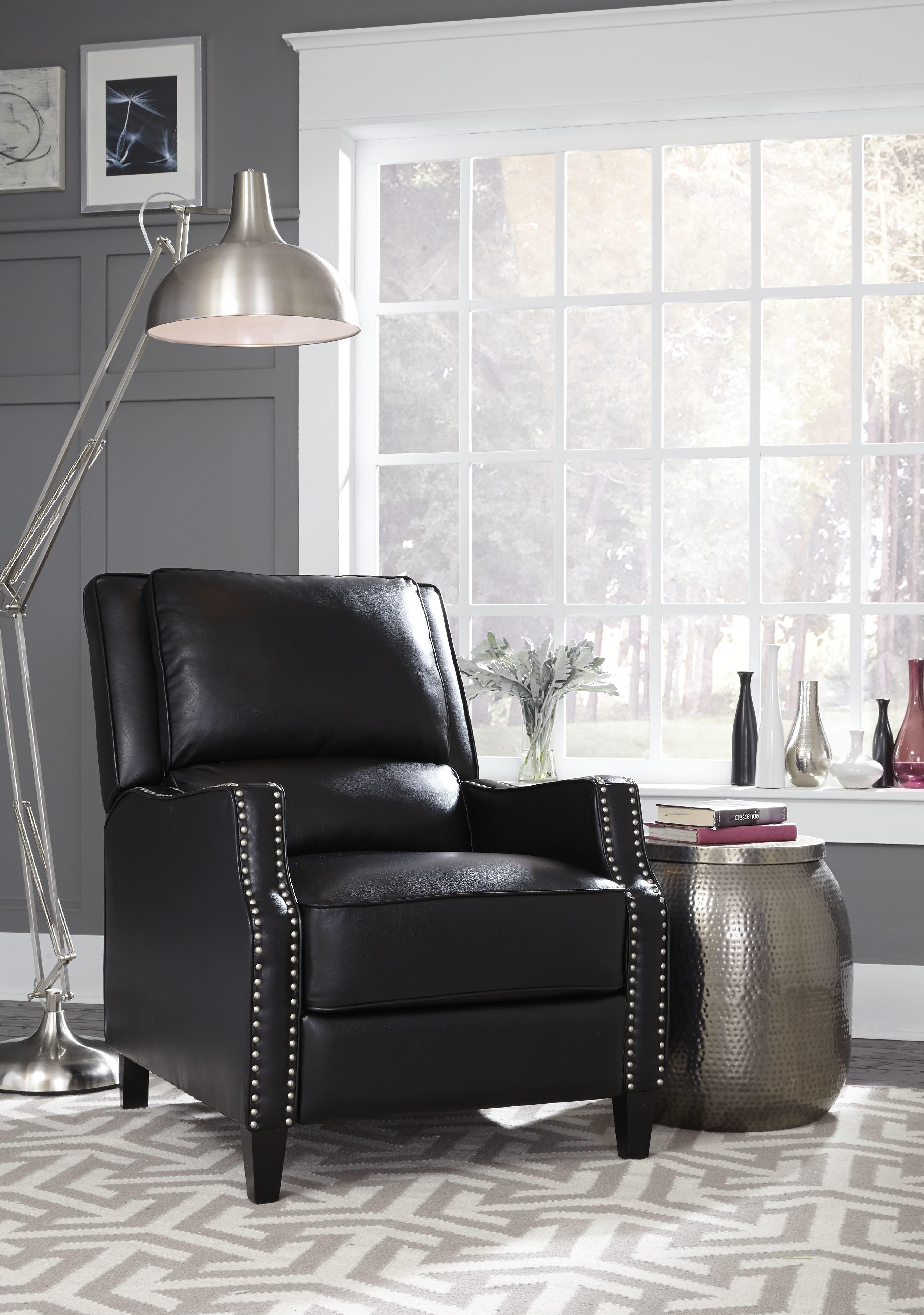 Alston Black Recliner Accent Chair