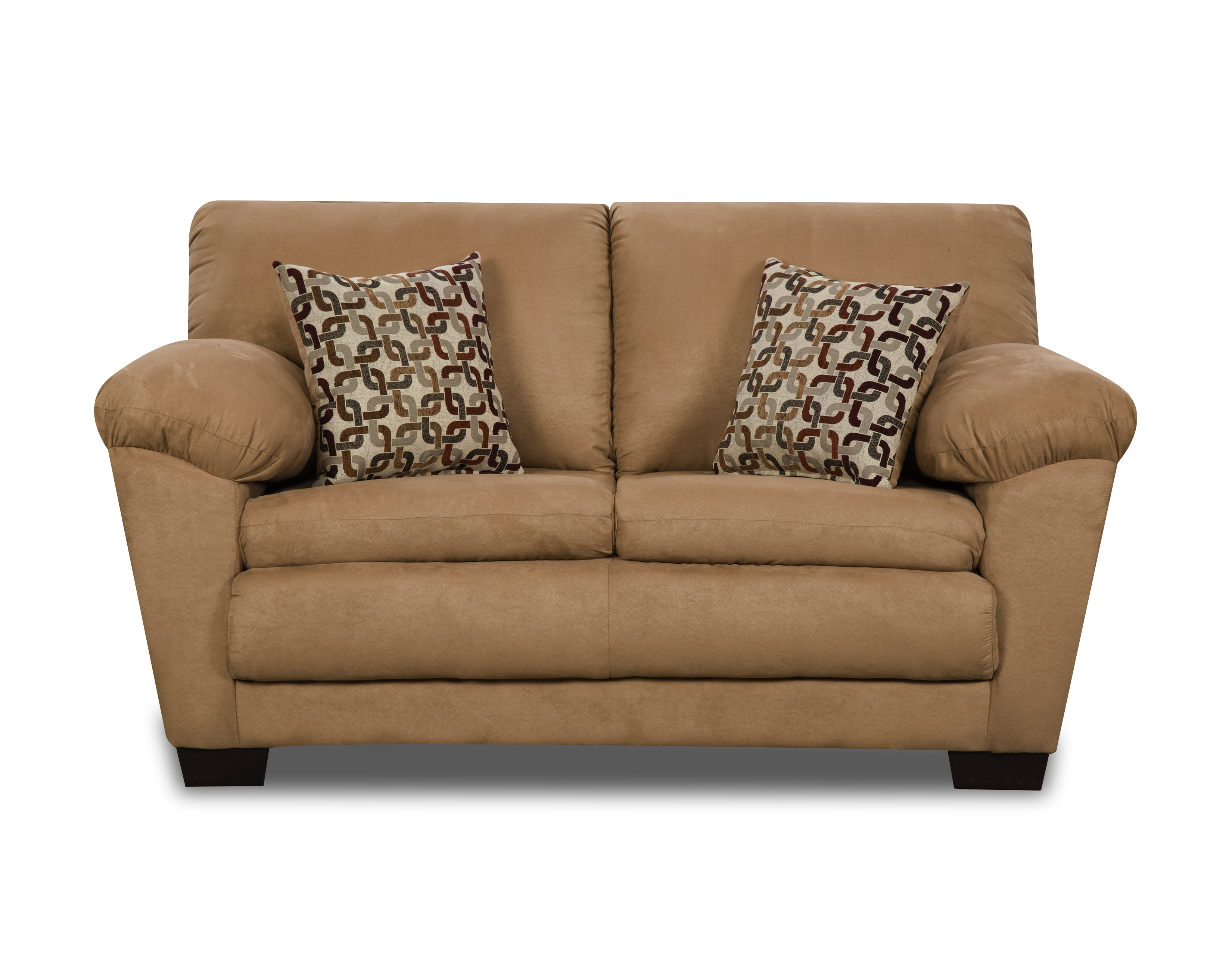 Adobe Camel Loveseat