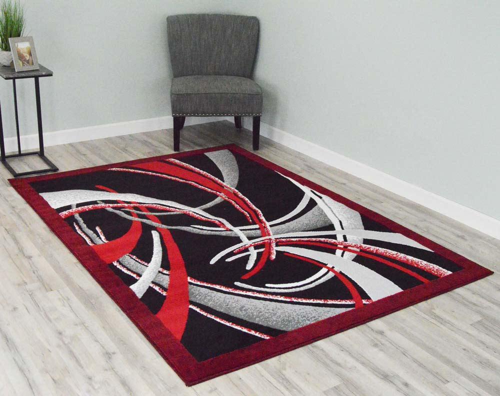 5  x 8  Rima Area Rug - Red