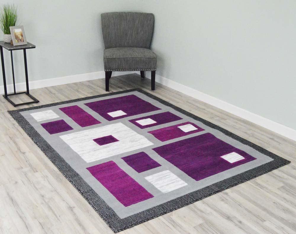 5  x 8  Rima Area Rug - Purple