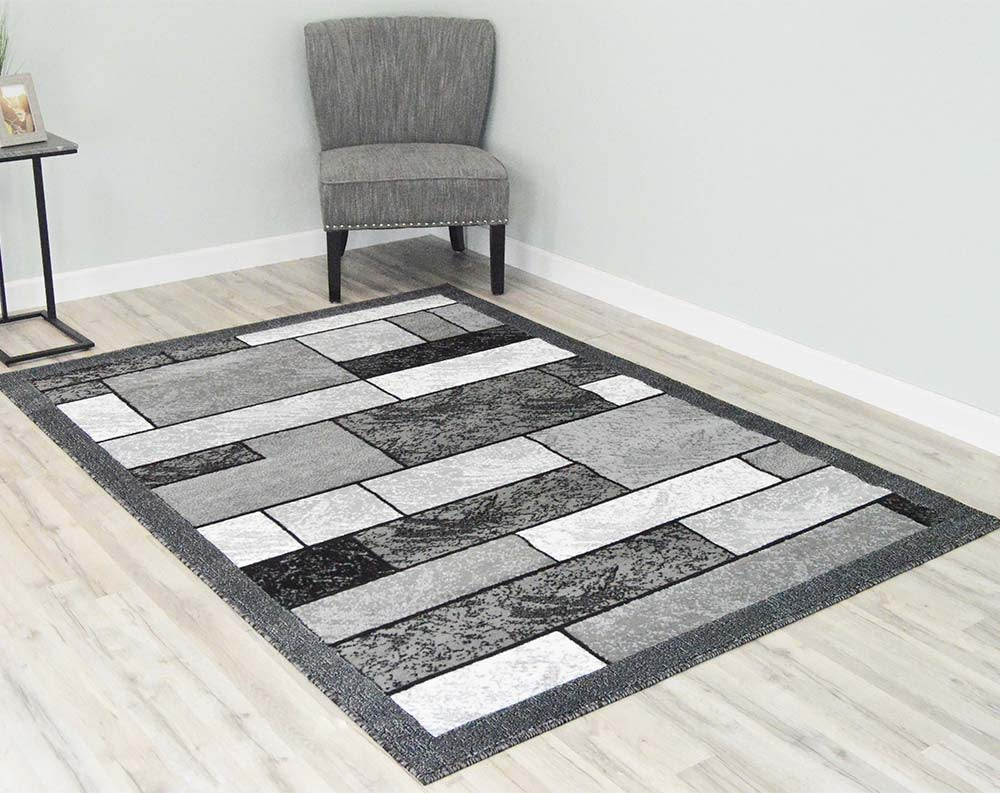 5  x 8  Rima Area Rug - Grey/Black