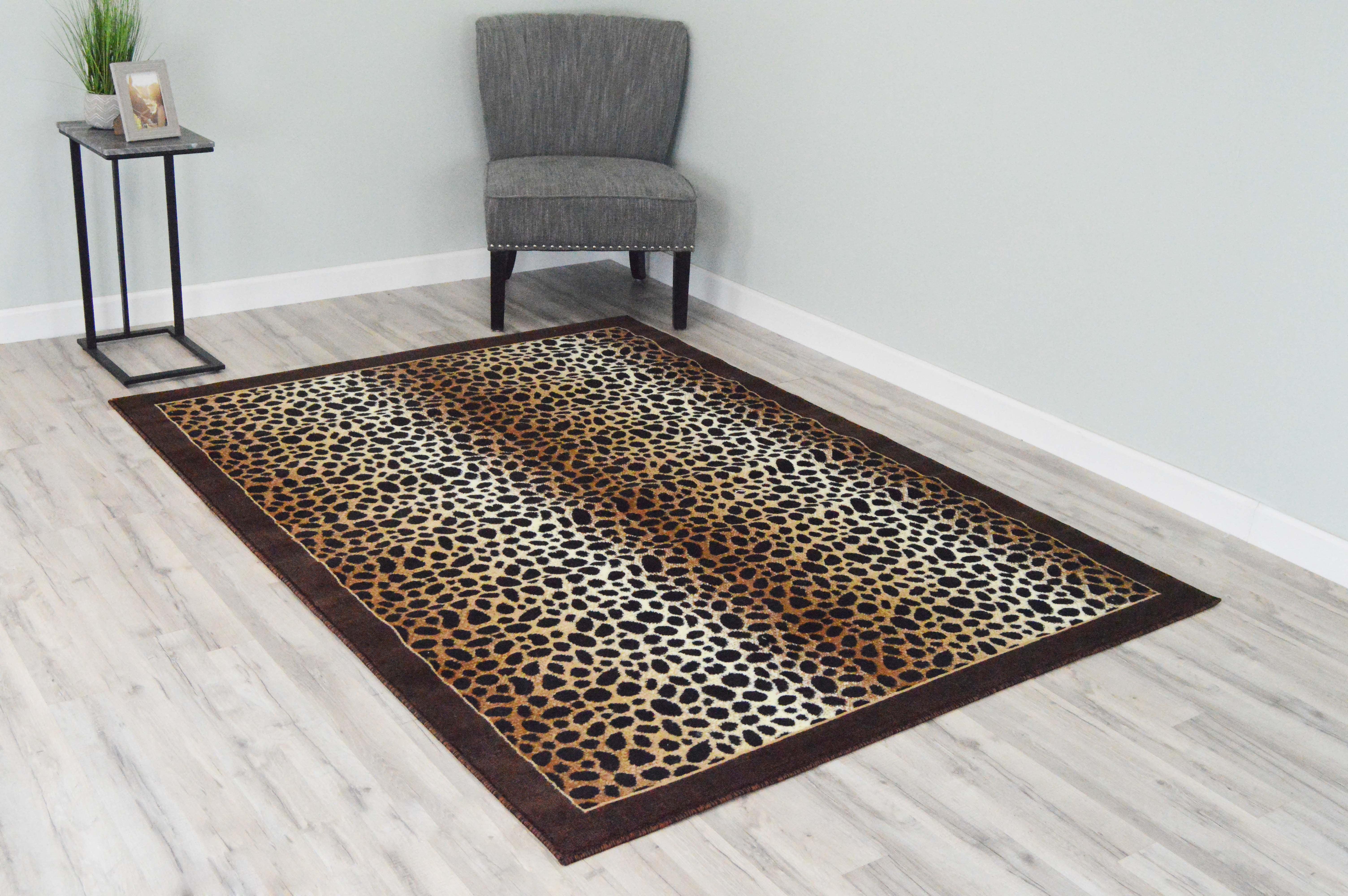 5  x 8  Rima Area Rug - Leopard