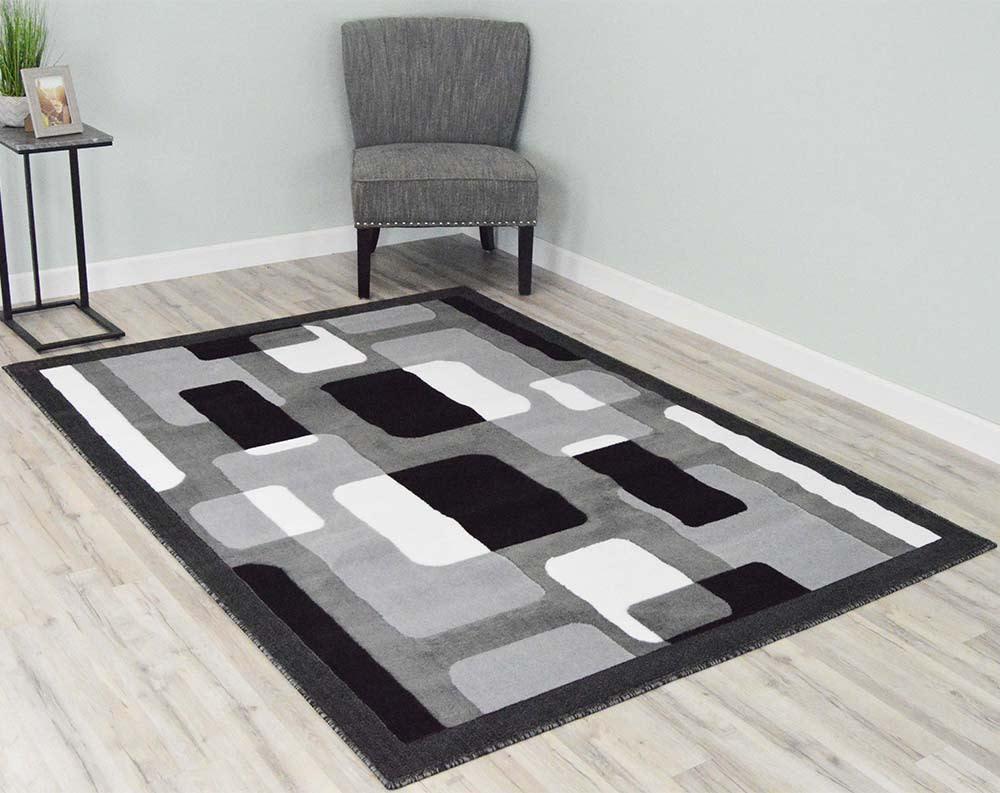 5  x 8  Rima Area Rug - Grey/Black