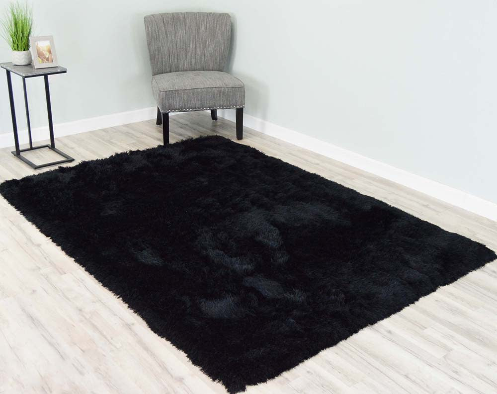 5  x 8  Melin Shaggy Area Rug - Black