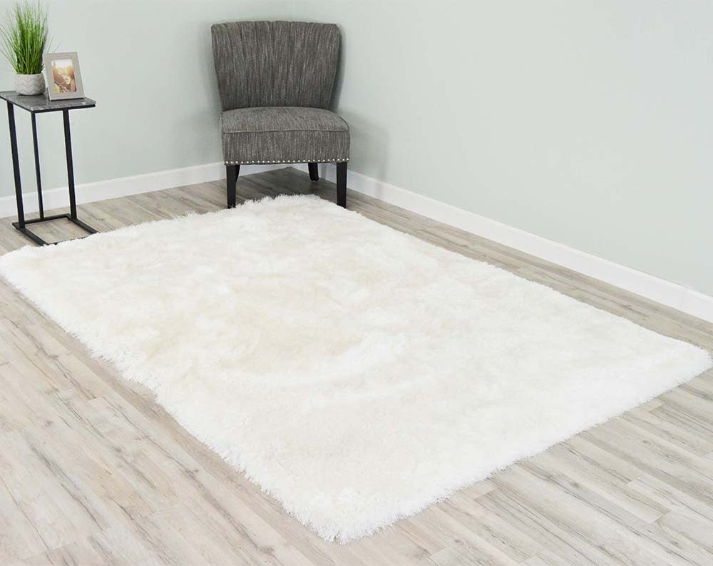 5  x 8  Melin Shaggy Area Rug - White