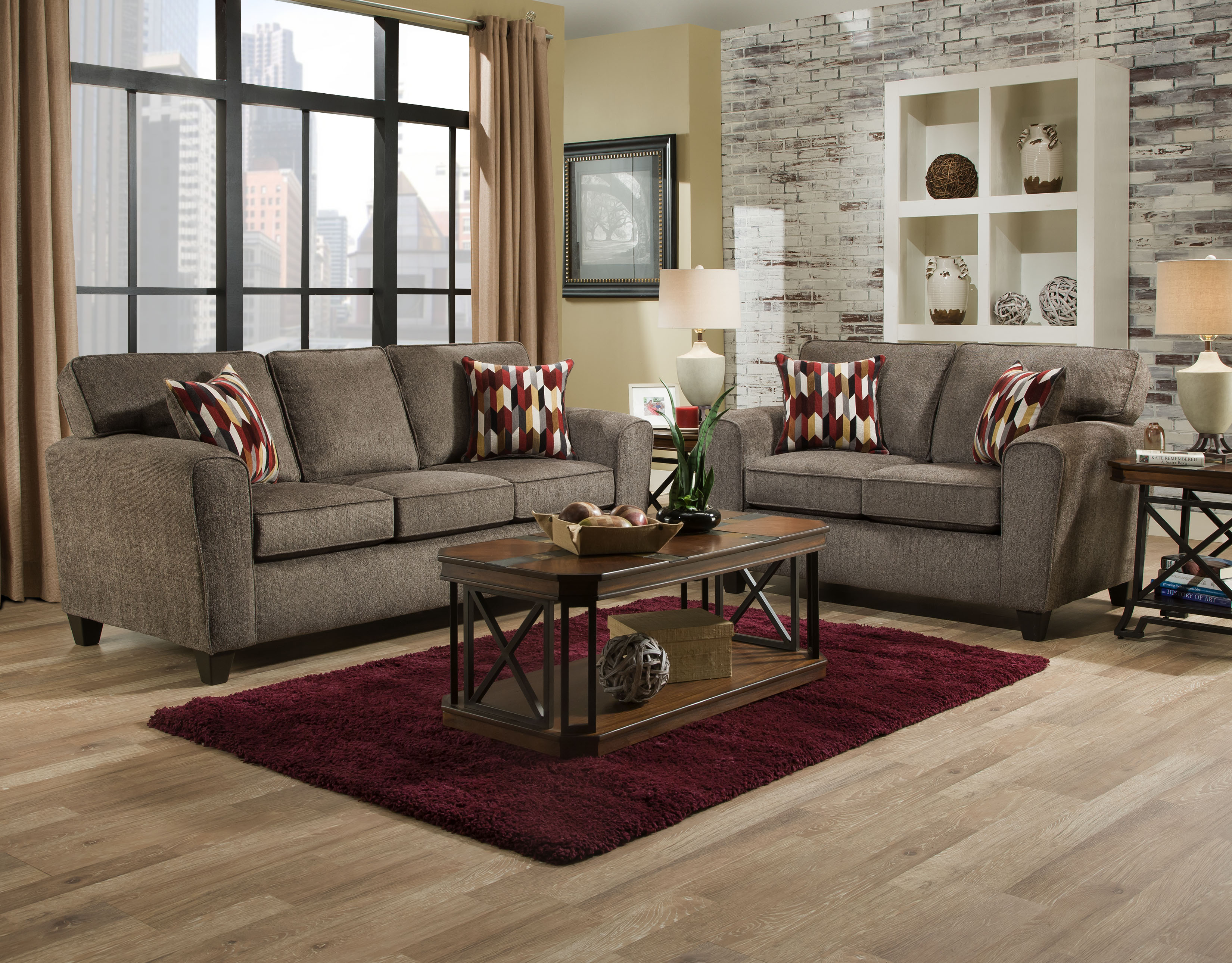 Grey Textured Sofa