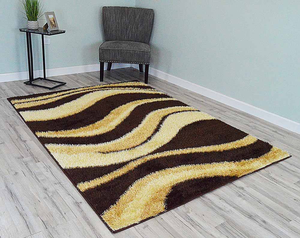 5  x 8  Monaco Shag Area Rug - Brown