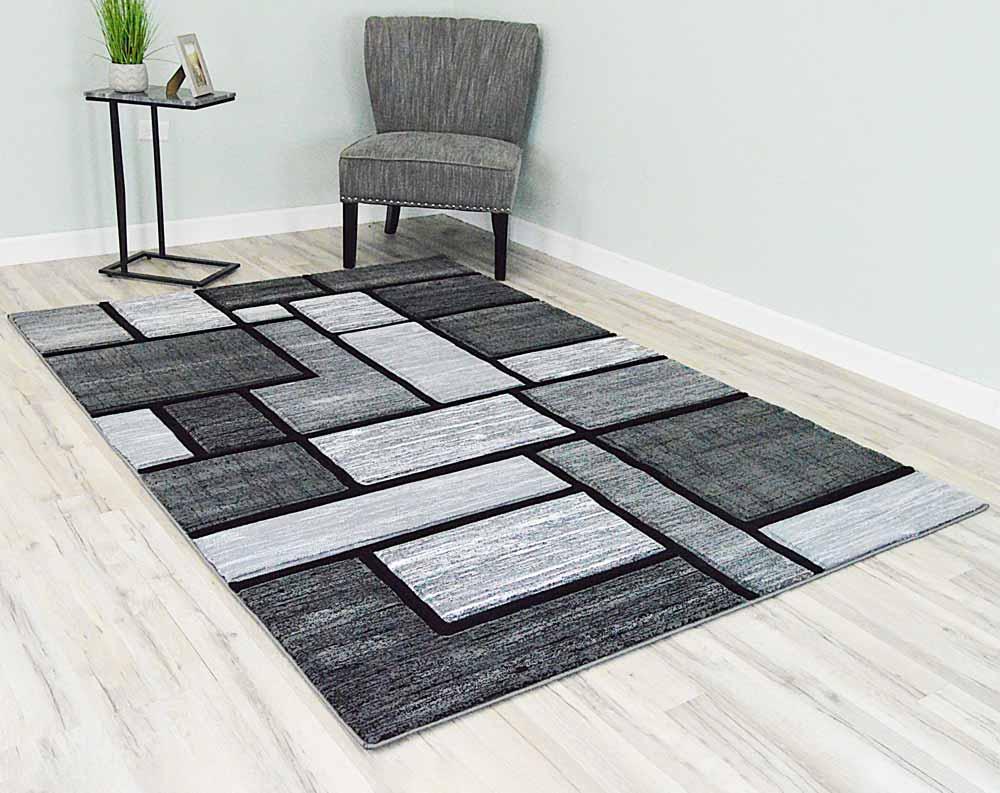 5  x 8  Premium Area Rug - Grey