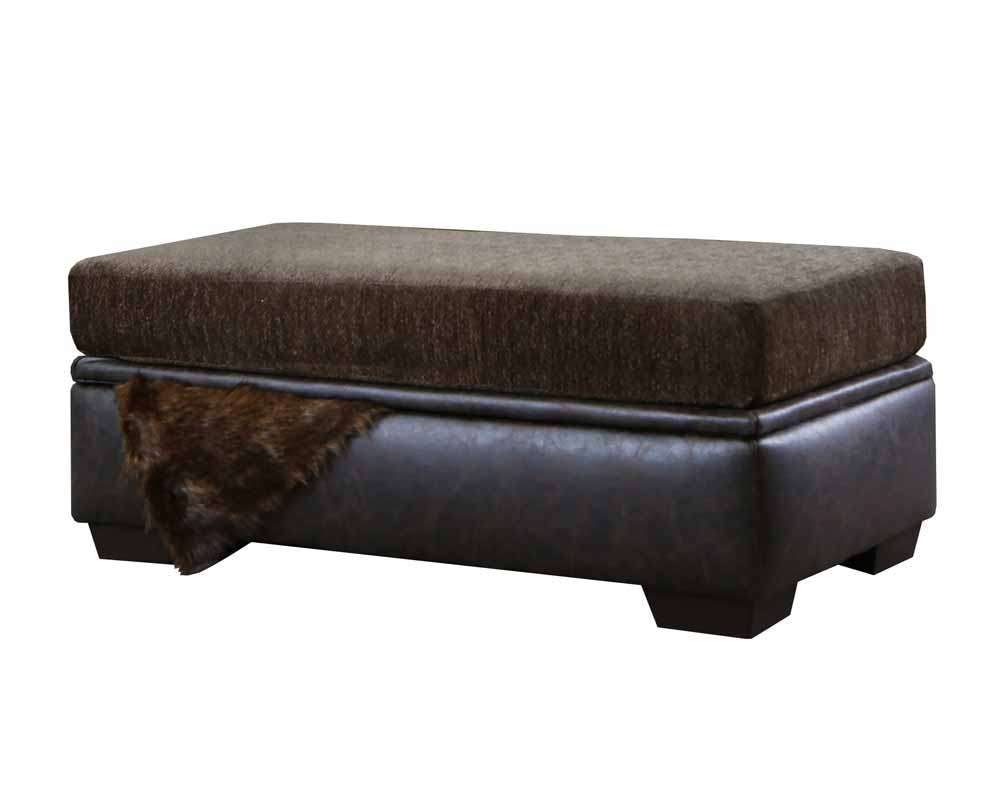 Sterling Brown Storage Ottoman