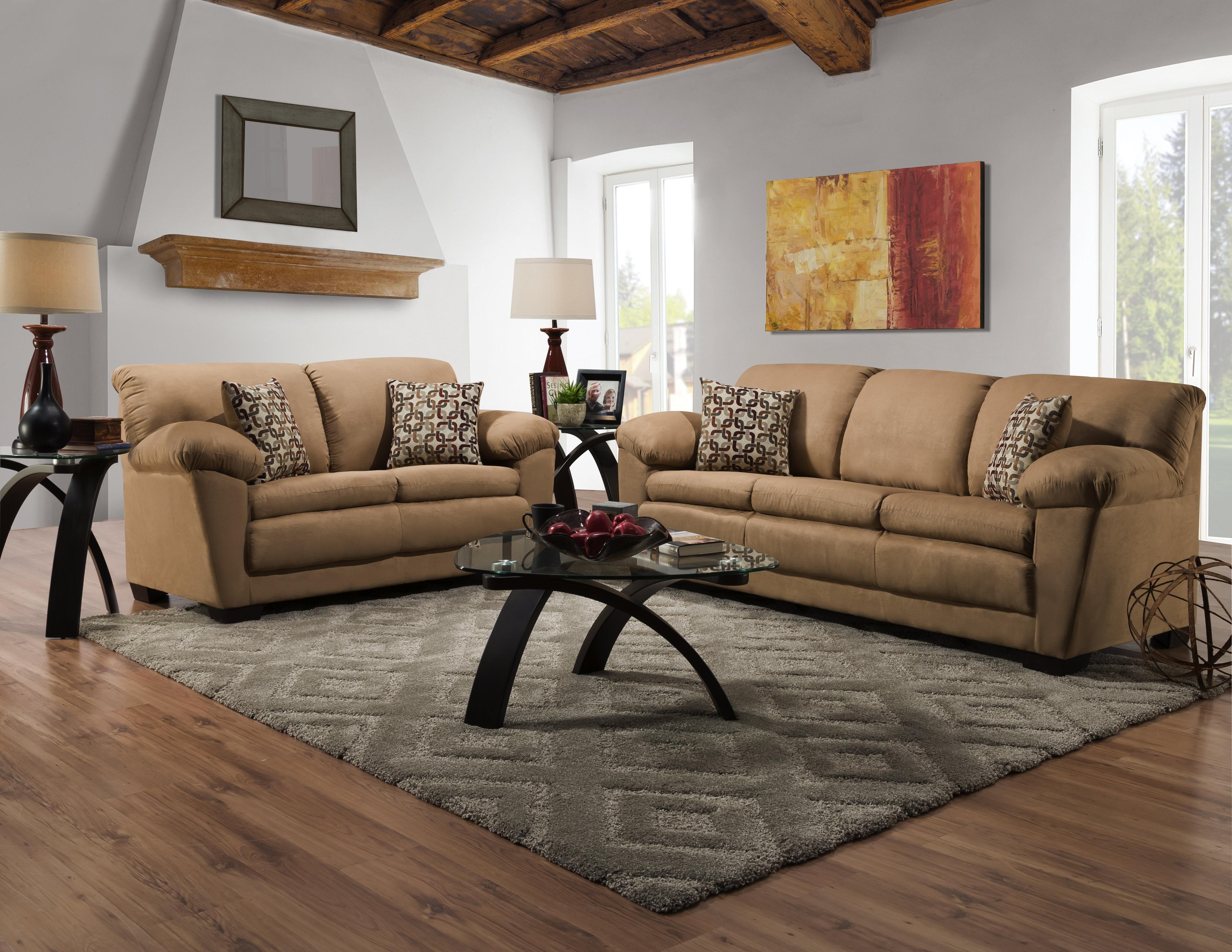Adobe Camel Sofa