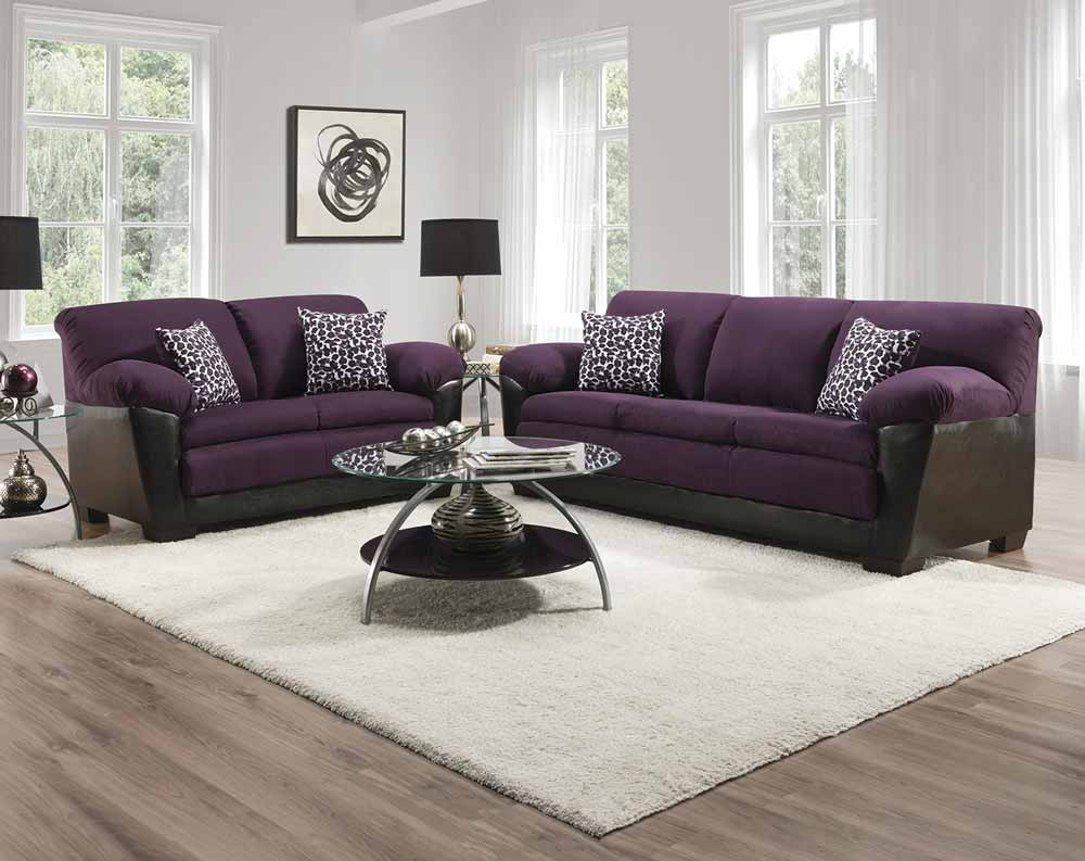 Sierra Purple Sofa