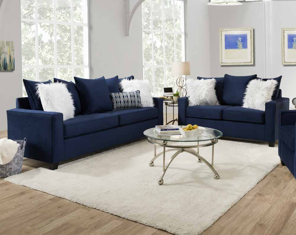 Indigo Blue Sofa