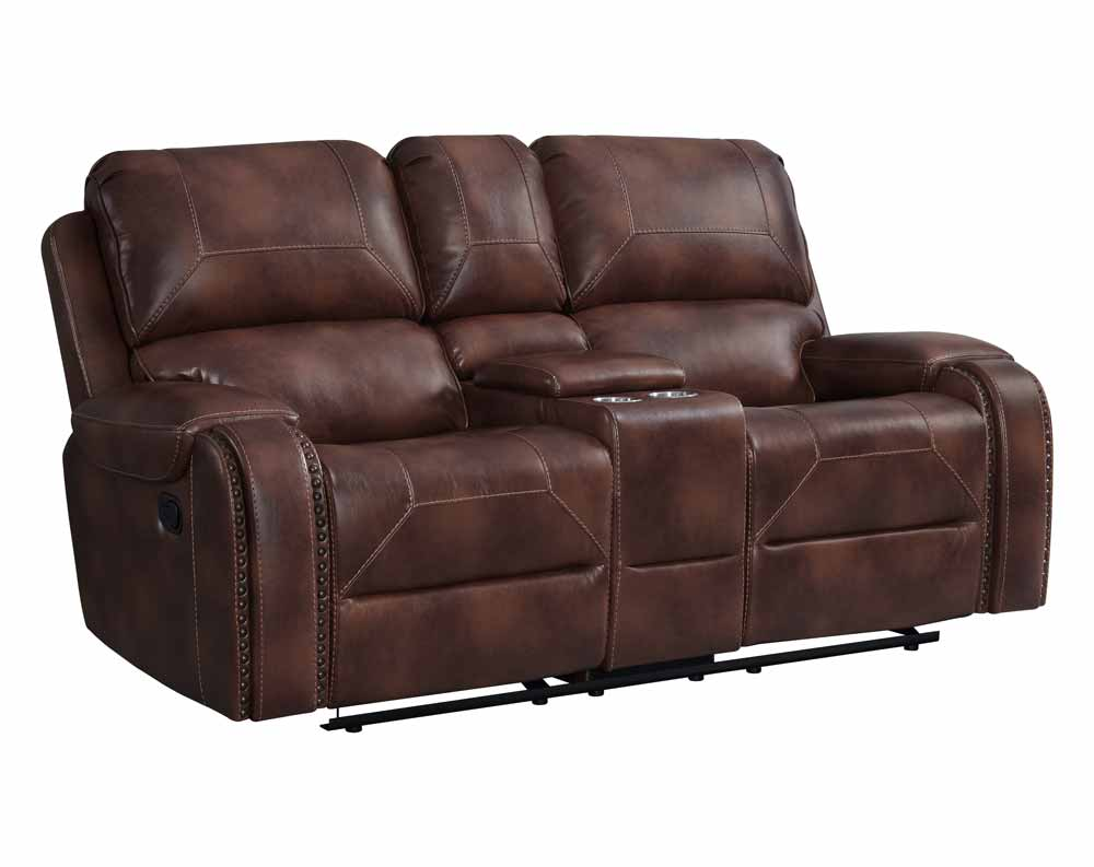 Garrison Cognac Motion Loveseat
