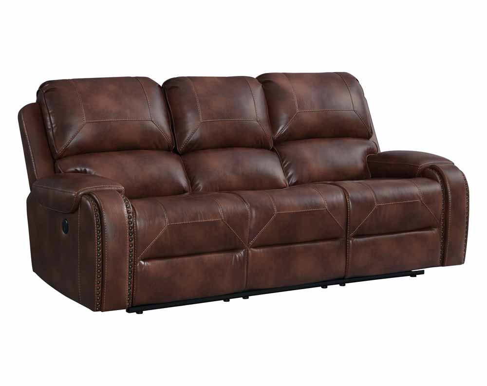 Garrison Cognac Motion Sofa