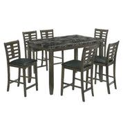 Nash Grey 7 piece Counter Height Dining Set