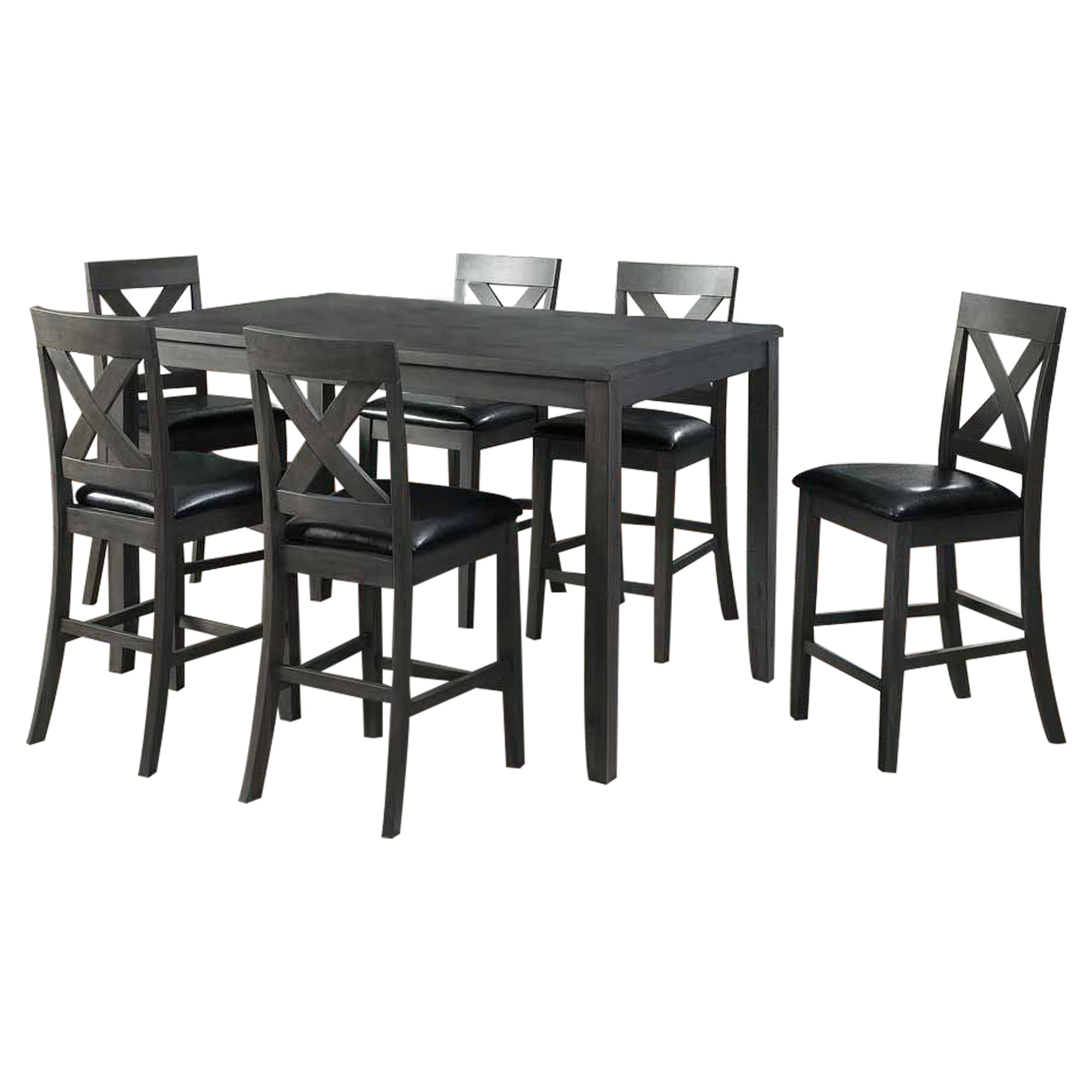 Alex Grey 7 piece Counter Height Dining Set