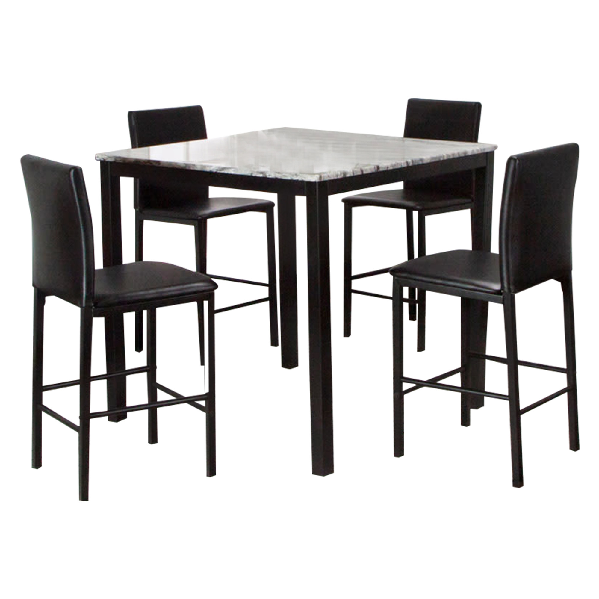 Julie Black 5 piece Counter Height Dining Set