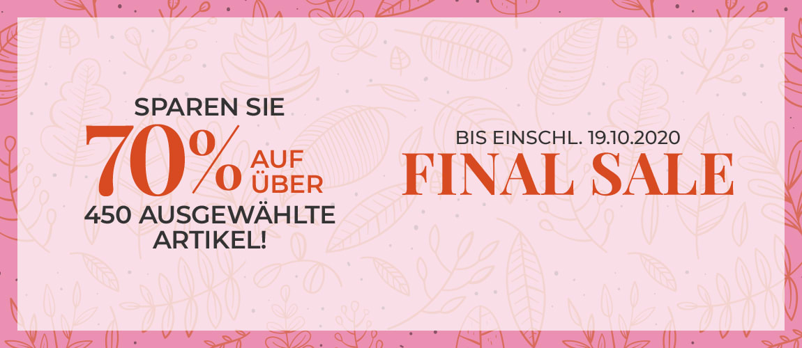 Final Sale - Jetzt 70% sparen!