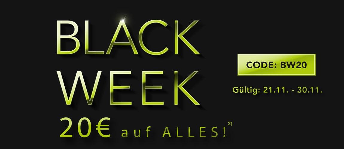 20€ geschenkt zur Black Week