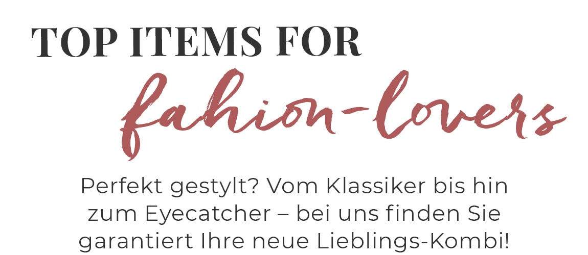 Unsere Top FASHION Kategorien