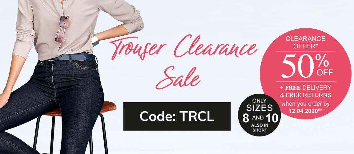 Trouser Clearance Sale: Shop now