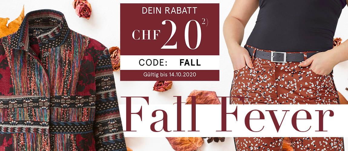 Herbst CHF 20 Gutschein Code FALL